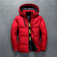 New Winter Jacket Men High Quality Fashion Casual Coat Hood Thick Warm Waterproof Down Jacket Male Winter Parkas Outerwear