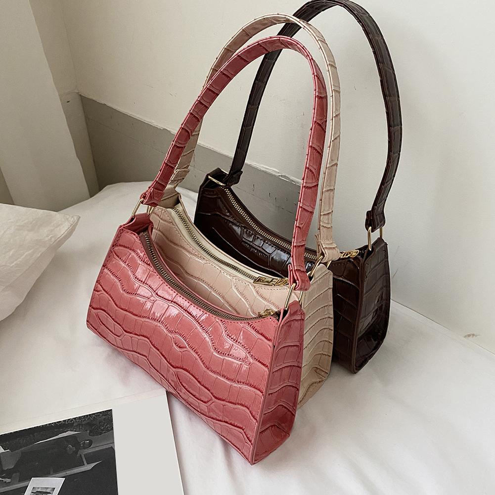 Fashion Exquisite Shopping Bag PU Leather Handbag Female Shoulder  Armpit Bag Retro Casual Women Tote Small Clutch Dropshipping