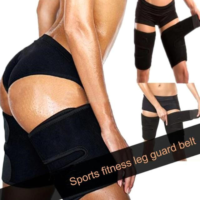 2pcs Fitness Leggings Belt Leg Shaper Sauna Sweat Thigh Trimmers Calories off Slimming Legs Fat Thermo Neoprene Compress Belt 5