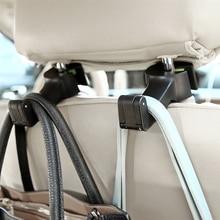 Multifunctionele Verborgen Auto Rugleuning Haak Draagbare Hanger Purse Bag Organizer Gemakkelijk Instal Auto Accessoires