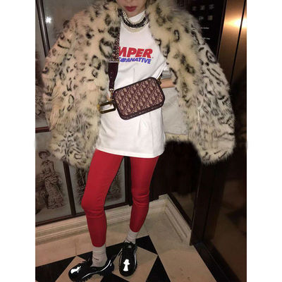 2019 New Style High-end Fashion Women Faux Fur Coat S106
