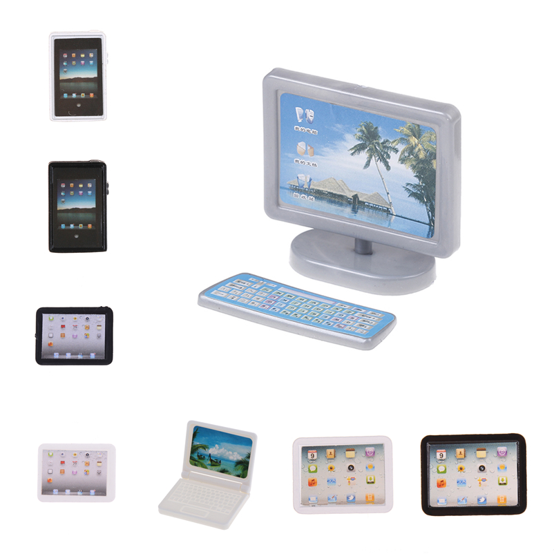 New 1:12 Dollhouse Miniature Accessories Mini-Tablet Computer Model Simulation Tablet PC Toy Doll House Decoration Furniture Toy
