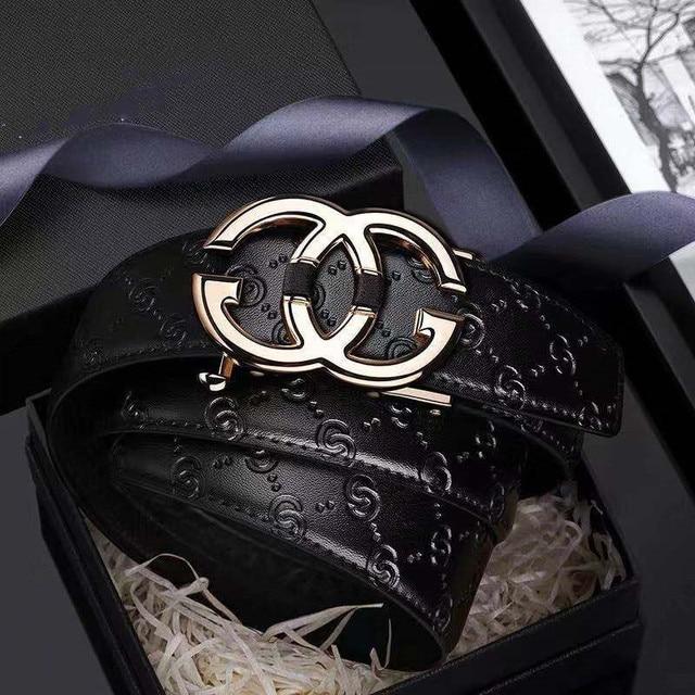 עור Mens חגורת אמיתי יוקרה מותג מעצב עור רצועת אבזם אוטומטי אופנה חגורת זהב #19535 37P