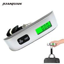 50 kg/110lb balance à bagages numérique avec rétro-éclairage électronique valise portable voyage pèse bagages sac suspendus balances 40% de réduction
