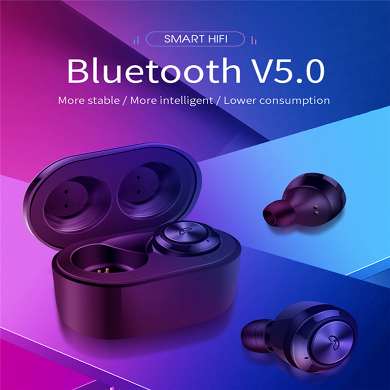 New A6 TWS Mini <font><b>BlueTooth</b></font> V5.0 Earphone Sports Stereo Music Headset with Charging Headphone For for Samsung S10 <font><b>S9</b></font> S8 Note 8 7 image