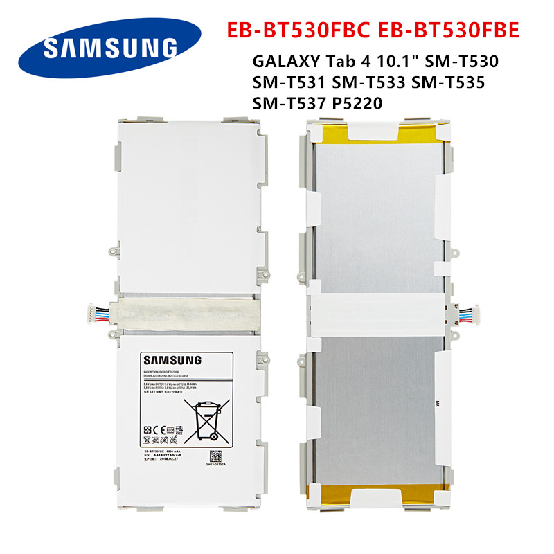 SAMSUNG Orginal Tablet EB-BT530FBE EB-BT530FBC Battery For Samsung Galaxy Tab 4 10.1