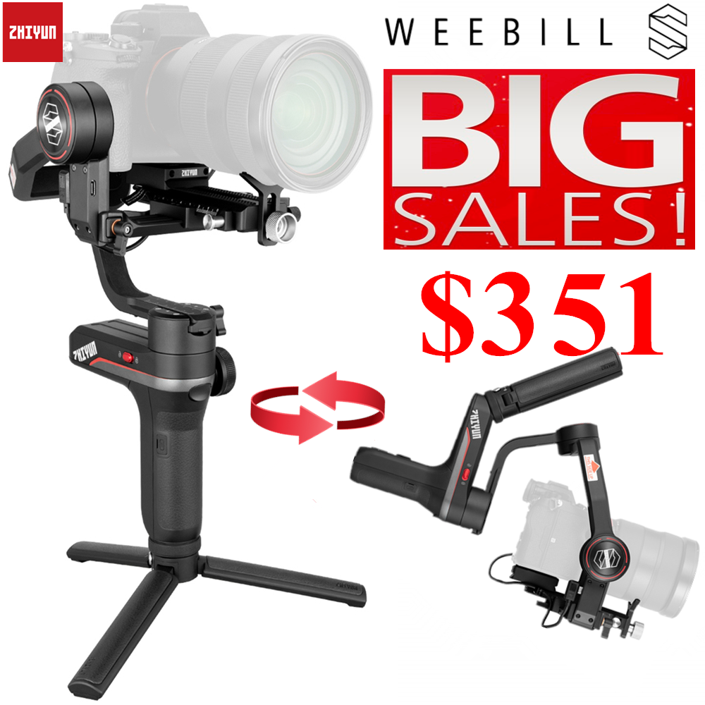 Zhiyun Weebill S, LAB 3-Axis Gimbal Stabilizer for Mirrorless and DSLR Cameras Like Sony A7M3 Nikon D850 Z7, 300% Improved Motor