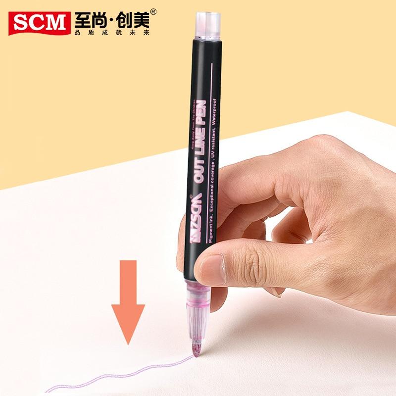 Metallic Marker Pen Metal Waterproof Permanent Marker Drawing Painting DIY Photo Album Scrapbooking Crafts Card Making Supplies