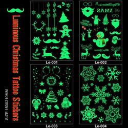 1Pc Luminous Temporary Tattoo Stickers Glow in Night Body Art Tattoos Party Decoration Christmas Carnival Decorations Sticker
