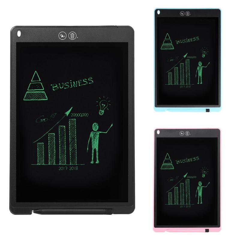 12 אינץ LCD הכתיבה באופן חלקי מחיקה ציור לוח אלקטרוני עבה עט המדגיש רפידות דיגיטלי טבליות עם סוללה