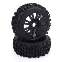 17mm Hub Wheel Rim & Tires Tyre for 1/8 Off-Road RC Car Buggy Redcat Team Losi VRX HPI Kyosho HSP Carson Hobao
