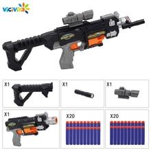 Viciviya çocuk oyuncakları elektrikli patlama yumuşak kurşun tabancası takım Nerf mermi oyuncak tüfek tabanca Dart Blaster çocuk en iyi hediye oyuncak tabanca