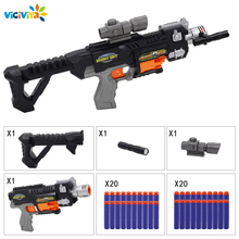 Viciviya pistola de brinquedo infantil, brinquedo de bala seguro para nerf, armas de rifle, dart blaster, para crianças arma de brinquedo de presente