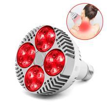 LED Grow Lamp E27 48W Deep Red 660nm Nabij Infrarood 850nm Voor Bloeiende Vruchtvorming Groeien Spectrum Enhancement Licht therapie