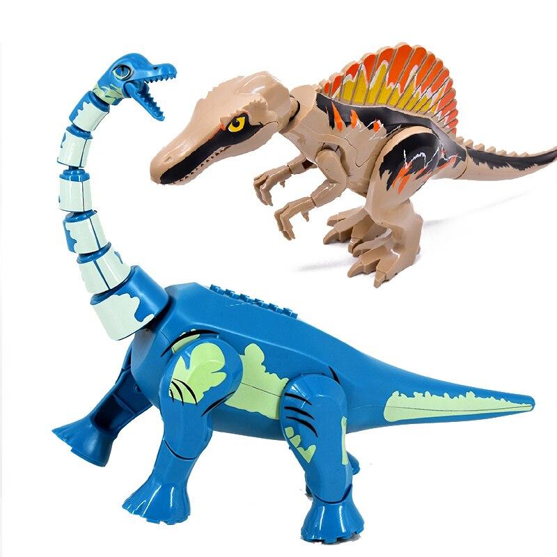 Raptor Brutal t-rex blocs de construction jurrassique monde dinosaures parc briques bricolage Dino jouets pour enfants cadeaux de noël