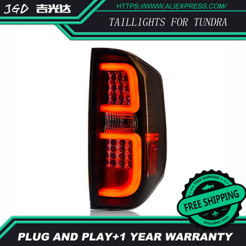 LED Smoked Black Tail Lights For Toyota Tundra taillights 2014-2016 Toyota Tundra taillight Car styling