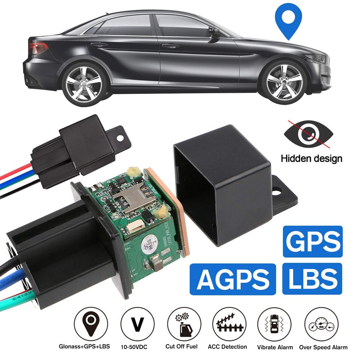 Mini Car GPS Tracker CJ720 Tracking Car Relay Device GSM Locator Remote Control Anti-theft Monitoring Cut Off Oil Power System