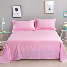100% Cotton Pure Color Flat Sheet For Children Single Double Bed Flat Bedsheets (No Pillowcase) flat