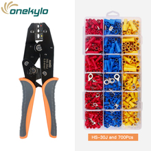 цена на HS-30J crimping tools pliers kit for 22-10 AWG 0.5-6.0mm² of Insulated Car Auto Terminals & Connectors Crimper Plier wire