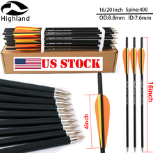 16/20 Inch High Quality Archery Arrows Carbon Arrow 400 For Crossbow Bow and Sport