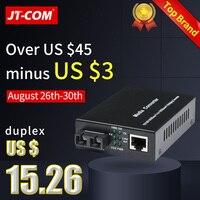 1 пара 1000 м FTTH Оптическое волокно медиа конвертер SC rj45 с одним режимом, дуплексный Gigabit оптоволокно 1G1E/2E/4E/8E трансивер 20/40 км