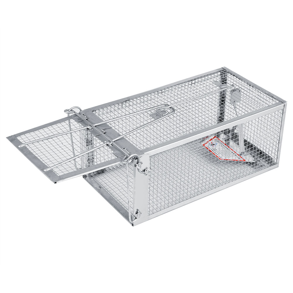 26.2X14X11.4cm Rat Trap Cage Small Live Animal Pest Rodent Mouse Control Bait Catch Mouse Trap Cage image