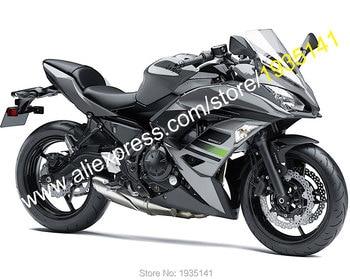 For Kawasaki Ninja 650 Fairing 2017 2018 2019 650R ER-6F 17 18 19 Grey Black Aftermarket Sport bike Fairings (Injection molding)