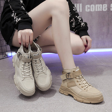 Classic ladies Martin boots 2019 Autumn New Canvas Combat Desert Boots Thick Sole Casual Bulck Ankle