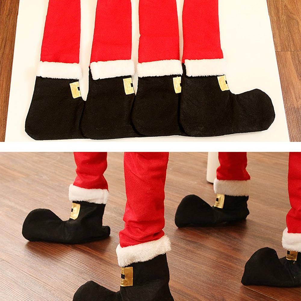 9 pcs/set Funny DIY Christmas chair feet cover Christmas