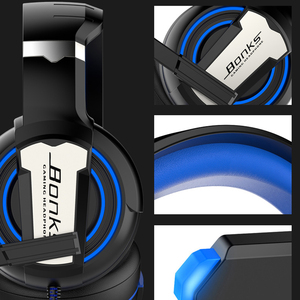 Image 5 - Pro Gaming Headset Headphones with Microphone Light Surround Sound Bass Earphones For PS4 Xbox One Professional Gamer Laptop PC