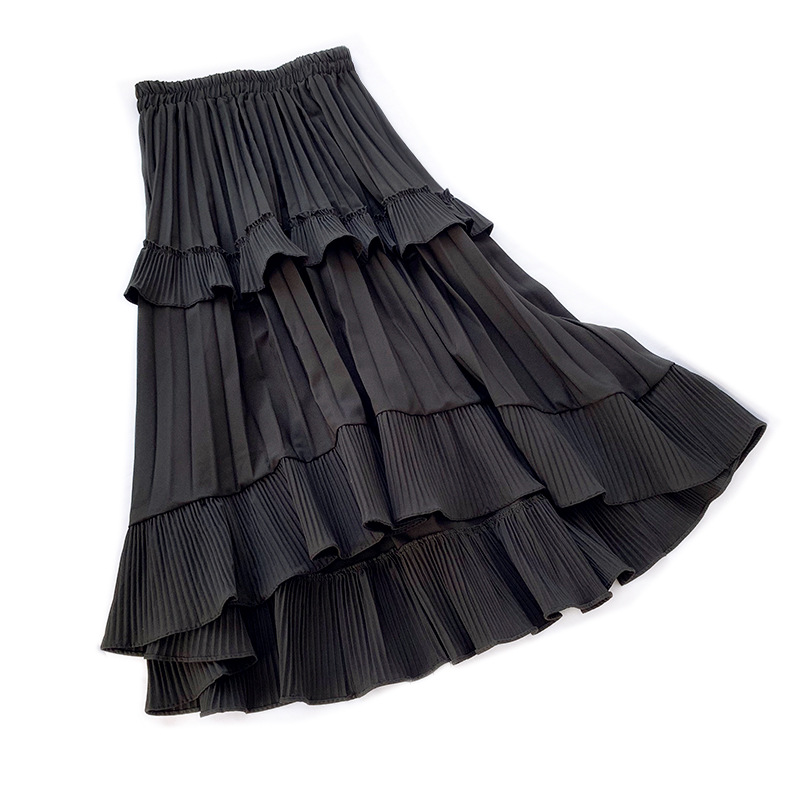 LANMREM 2020 NEW Spring And Summer A-line Double Multi-layer Mesh Halfbody Skirt Wholesales High Waist Ruffles Cake WL19712