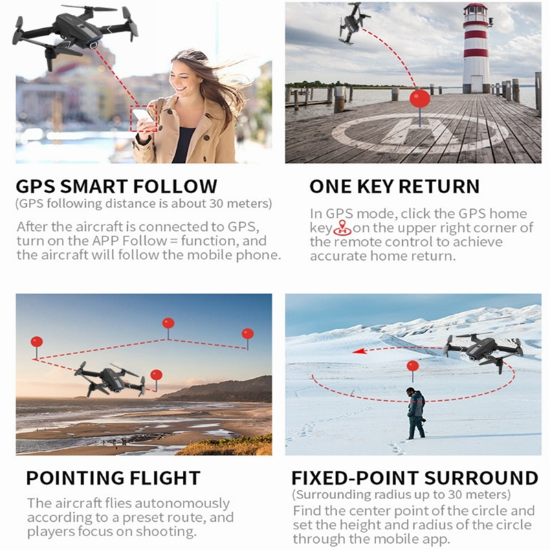 Clearance SaleFEMA Gps-Drone Quadcopter Angle-Camera Follow VS E520S Wifi Foldable Mini FPV with 4k/1080p