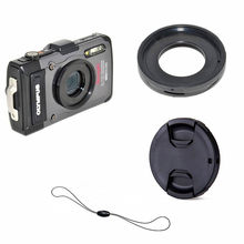 Filtro Anel Adaptador Mount lens cap keeper para Olympus TG-6 TG-5 TG-4 TG-3 TG-2 TG-1 TG6 TG5 TG4 TG3 TG2 TG1 Câmera Digital