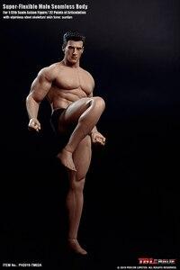 Image 5 - TBLeague 1/12 Super Flexible Male Seamless Body Action Figure with Head Sculpt TM01A /TM02A Fitness Suntan Skin Soldier Figures