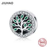 Charme 925 original silber Baum Blätter Dazzling CZ Clips Perlen Fit Original Reflexions Armband charms Schmuck machen