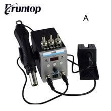 חדש Eruntop 8586 חשמלי הלחמה איירונס + DIY אוויר חם אקדח טוב יותר SMD עיבוד חוזר תחנה