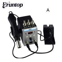 New Eruntop 8586 전기 납땜 인두 + DIY 핫 에어 건 더 나은 SMD 재 작업 스테이션