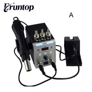 Image 1 - New Eruntop 8586  Electric Soldering Irons +DIY Hot Air Gun Better SMD Rework Station