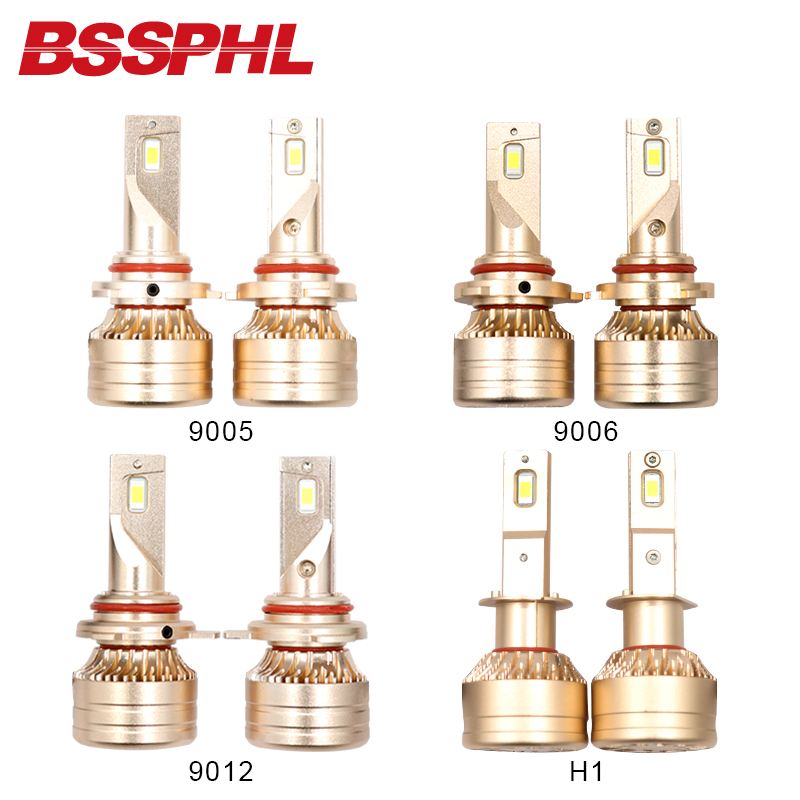 BSSPHL Auto LED Light 12V 9005 9006 9012 H1 H3 H4 H7 H8 H9 H11 Car Head light replacement bulbs fast start 6000k