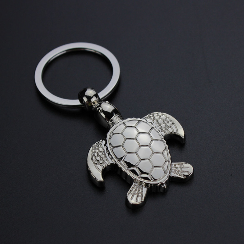 Fashion Classic Cute Turtle Keychain Men Car Key Ring Women Metal Key Chain Bag Charm  For Party Best Gift