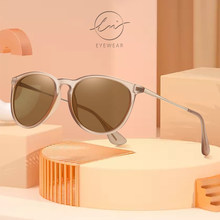 LM Fashion Round Sunglasses Women Men Polarized 2021 High Quality Sun Glasses Ladies Eyewear Mirror Vintage UV400 Oculos De Sol