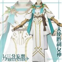Ow DVA Angel goddess skin Summer Sport Games White Dress for woman costume Halloween Uniform free shipping