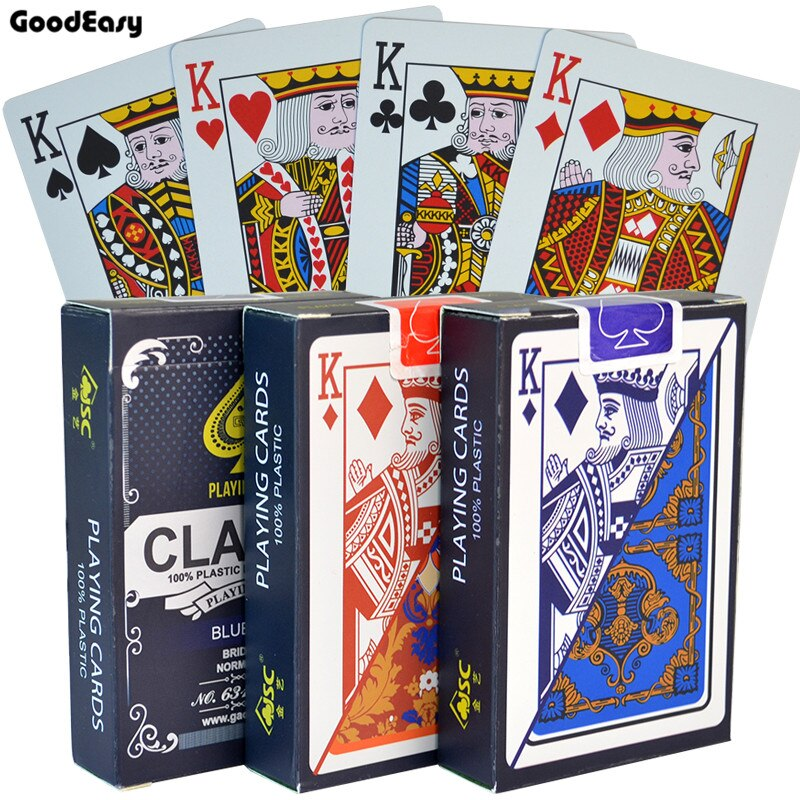 100% PVC Poker Cards Waterproof Texas Hold'em Playing Cards Black Jack Plastic Game Card Poker Game Board Game Card Dropship 1Pc(China)