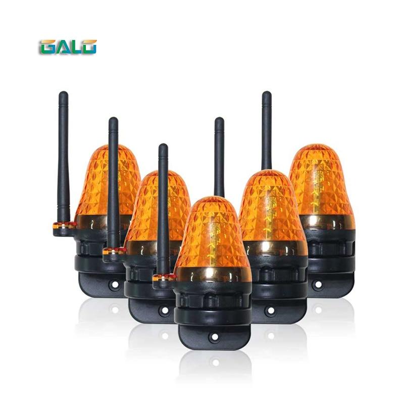 AC/DC 12V-265V LED Gate Flashing Light Lamp Alarm Lamp For Swing Sliding Gate Opener/Barrier Gate Signal Strobe Flashing Lamp
