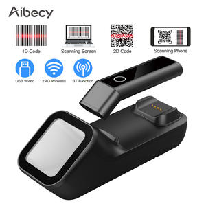 3-in-1 Barcode Scanner Handheld 1D/2D/QR Bar Code Reader BT&2.4G Wireless&USB Wired Connection with Charging&Scanning Base