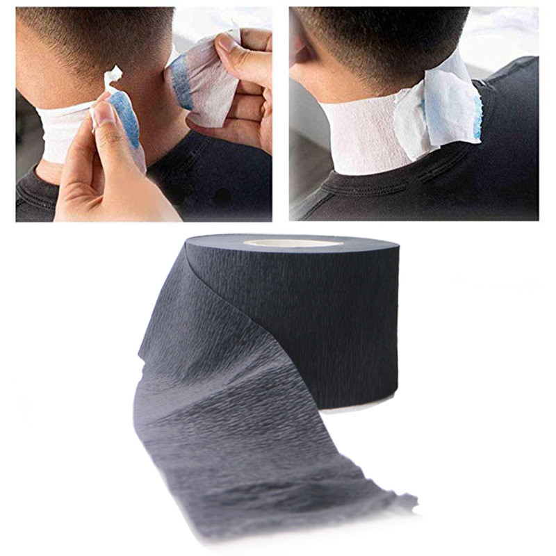 1 Roll Black Hair Neck Paper Salon Waterproof Dye Perm Hair Ruffle Cover Hairdresser Collar Necks Covering Styling Tools