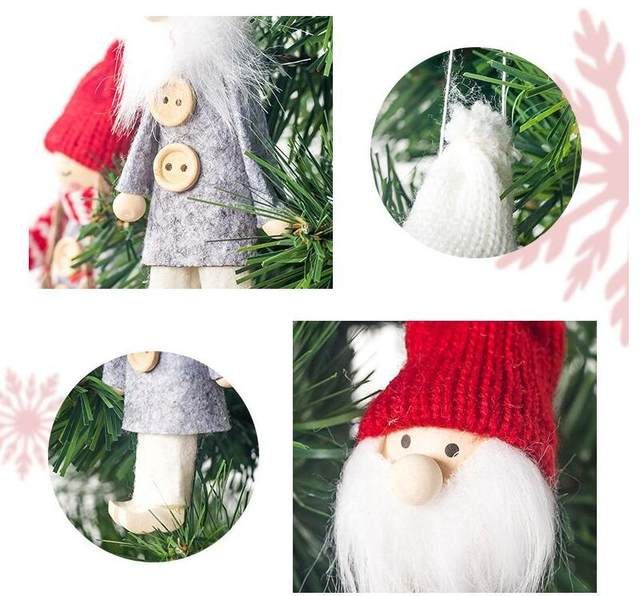 Gift New Year Old man Angel Doll Christmas Ornament Kids Toy Hanging Pendant Christmas Tree Decorations For Home 2019 navidad 22