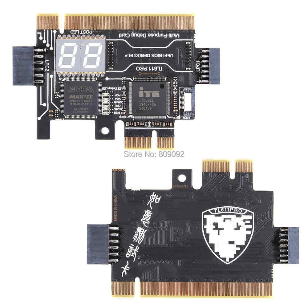 Universele Laptop En Pc Pci Pci-E Mini Pci-E Lpc Moederbord Diagnostic Test Analyzer Tester Debug Kaarten Voor Laptop Desktop