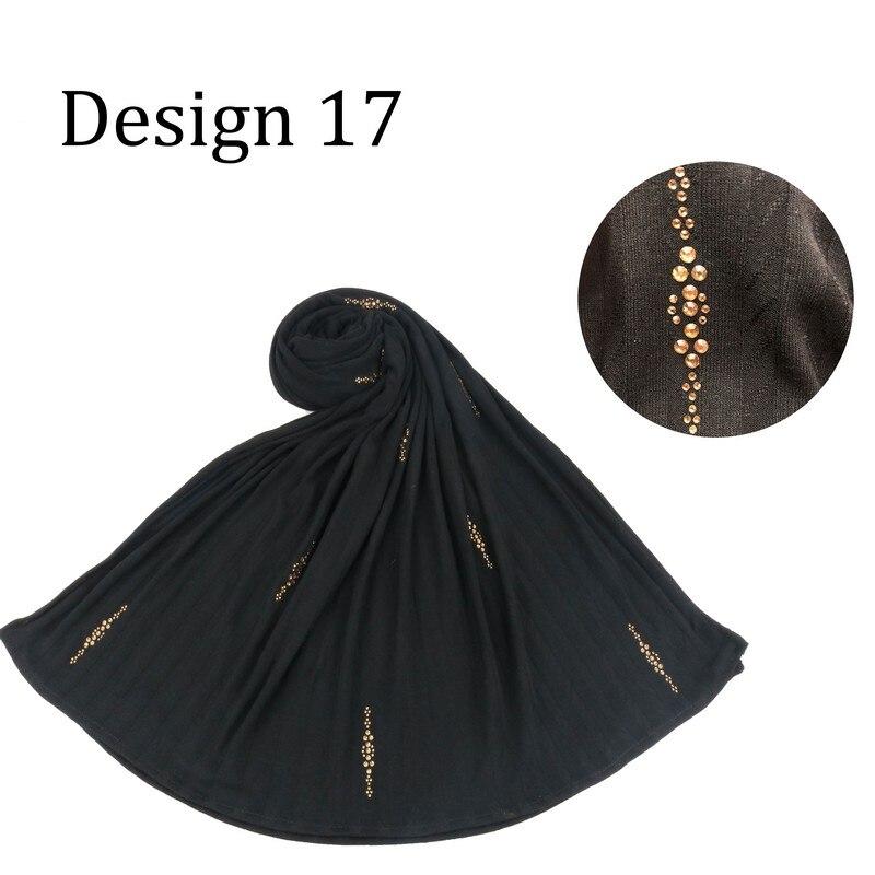 Xwzz Design 17/21 2020 New Fashion Cotton Hijab Scarf With Diamond Headscarf For Netherlands Muslim Women Head Shawl
