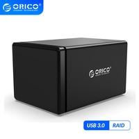 ORICO NS 시리즈 5 베이 3.5 ''usb3.0 (RAID HDD 도킹 스테이션 포함) 78W 전원 어댑터 HDD 인클로저 지원 UASP 하드 드라이브 케이스